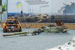 Torre destruida del tanque Imágenes de archivo libres de regalías