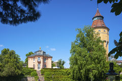 Torre di acqua con Pagodenburg in Rastatt Fotografie Stock