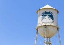 Torre di acqua degli studi di Paramount Fotografie Stock