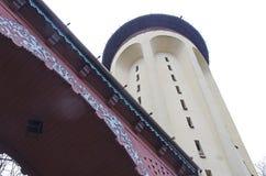 Torre di acqua del dettaglio in Palic, Subotica Fotografia Stock