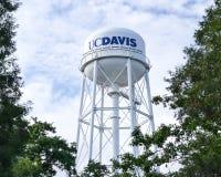 Torre di acqua del UC Davis's Fotografie Stock