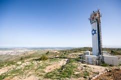 Torre di acqua di Neve Daniel, Cisgiordania, Israele Fotografie Stock Libere da Diritti