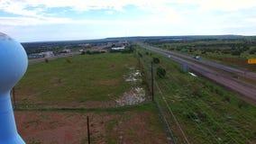 Torre di acqua storica di Route 66 video d archivio
