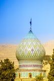 Torre di Ali Ibn Hamzeh Holly Shrine a Shiraz, Iran fotografia stock libera da diritti
