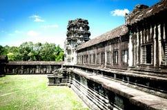 Torre di Angkor Wat Fotografia Stock