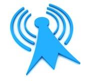 Torre di antenna blu 3d Fotografie Stock Libere da Diritti