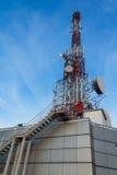 Torre di antenna di comunicazione Fotografie Stock Libere da Diritti