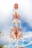 Torre di antenna di comunicazione del telefono cellulare Fotografia Stock