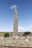Torre di Ardmore e parete rotonde del cimitero del celtico immagine stock libera da diritti