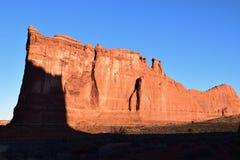 Torre di Babele ad alba Fotografia Stock