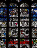 Torre di Babele in vetro macchiato Fotografia Stock