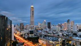 Torre di Baiyok a Bangkok alla notte Fotografia Stock Libera da Diritti