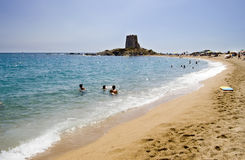 Torre di Bari. Bari Tower Beach at Barisardo, Sardinia, Italy Royalty Free Stock Image