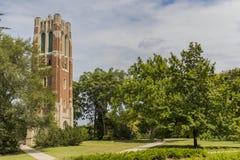 Torre di Beaumont all'università dello stato del Michigan Immagini Stock Libere da Diritti