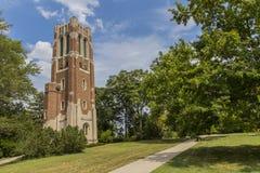 Torre di Beaumont all'università dello stato del Michigan Immagine Stock Libera da Diritti