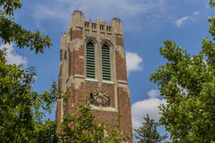 Torre di Beaumont all'università dello stato del Michigan Fotografie Stock Libere da Diritti