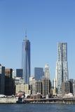 Torre di Beekman e di Freedom Tower in Lower Manhattan Fotografie Stock Libere da Diritti