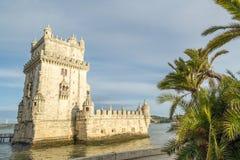 Torre di Belem in città di Lisbona Immagine Stock Libera da Diritti