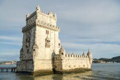 Torre di Belem in città di Lisbona Immagini Stock Libere da Diritti