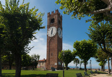 Torre di belvedere in Mondovi fotografie stock libere da diritti