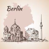 Torre di Berlino e di Berlin Cathedral TV Immagini Stock