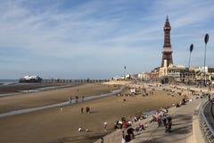 Torre di Blackpool e pilastro del nord - Blackpool - Inghilterra Immagini Stock Libere da Diritti