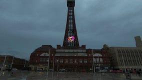 Torre di Blackpool in Inghilterra del Nord video d archivio