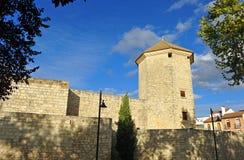 Torre di Boabdil nel castello della morale, provincia di Lucena, Cordova, Andalusia, Spagna Fotografia Stock Libera da Diritti
