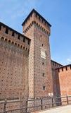 Torre di Bona della Savoia nel castello di Sforza (XV C.). Milano, Italia Fotografia Stock