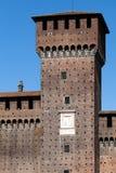 Torre di Bona di Savoia at the Castello Sforzesco in Milan, Ital Royalty Free Stock Photos