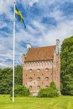 Torre di Borjes al castello di Borgeby Immagini Stock