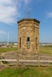 Torre di Bude sopra il punto di bussola Cornovaglia del nord fra Tintagel e Clovelly Inghilterra Regno Unito Fotografia Stock Libera da Diritti