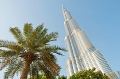 Torre di Burj Khalifa nel Dubai Fotografie Stock Libere da Diritti