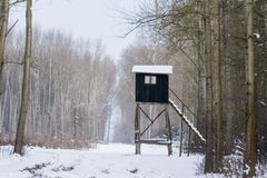 Torre di caccia Fotografia Stock Libera da Diritti