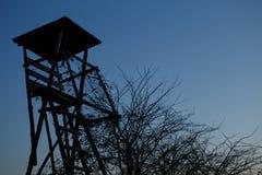 Torre di caccia al tramonto Fotografia Stock