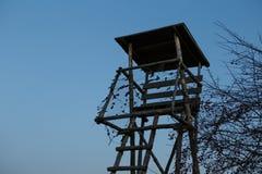 Torre di caccia al tramonto Fotografie Stock Libere da Diritti