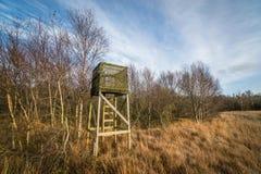 Torre di caccia con una scala Fotografia Stock