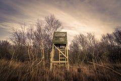 Torre di caccia nel crepuscolo Immagine Stock Libera da Diritti