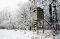 Torre di caccia nell'inverno Fotografie Stock Libere da Diritti
