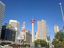 Torre di Calgary dentro del centro Fotografia Stock