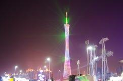 Torre di Canton alla manifestazione della luce notturna Fotografia Stock Libera da Diritti