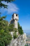 Torre di Cesta della La del titano del supporto a San Marino Fotografia Stock