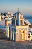 Torre di chiesa al tramonto Fotografia Stock Libera da Diritti