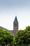 Torre di chiesa in Bussum Fotografia Stock Libera da Diritti