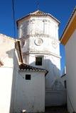 Torre di chiesa di Comares Fotografia Stock Libera da Diritti