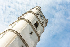 Torre di chiesa di Csonkatemplom di Debrecen Fotografia Stock