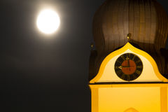 Torre di chiesa di Schwandorf Fotografie Stock Libere da Diritti