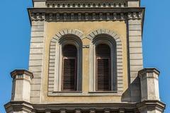 Torre di chiesa luterana Fotografia Stock Libera da Diritti