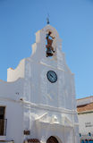Torre di chiesa a Mijas Fotografia Stock