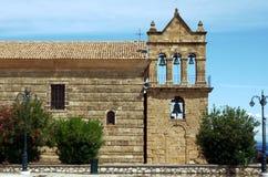 Torre di chiesa nell'isola di Zacinto Fotografia Stock Libera da Diritti